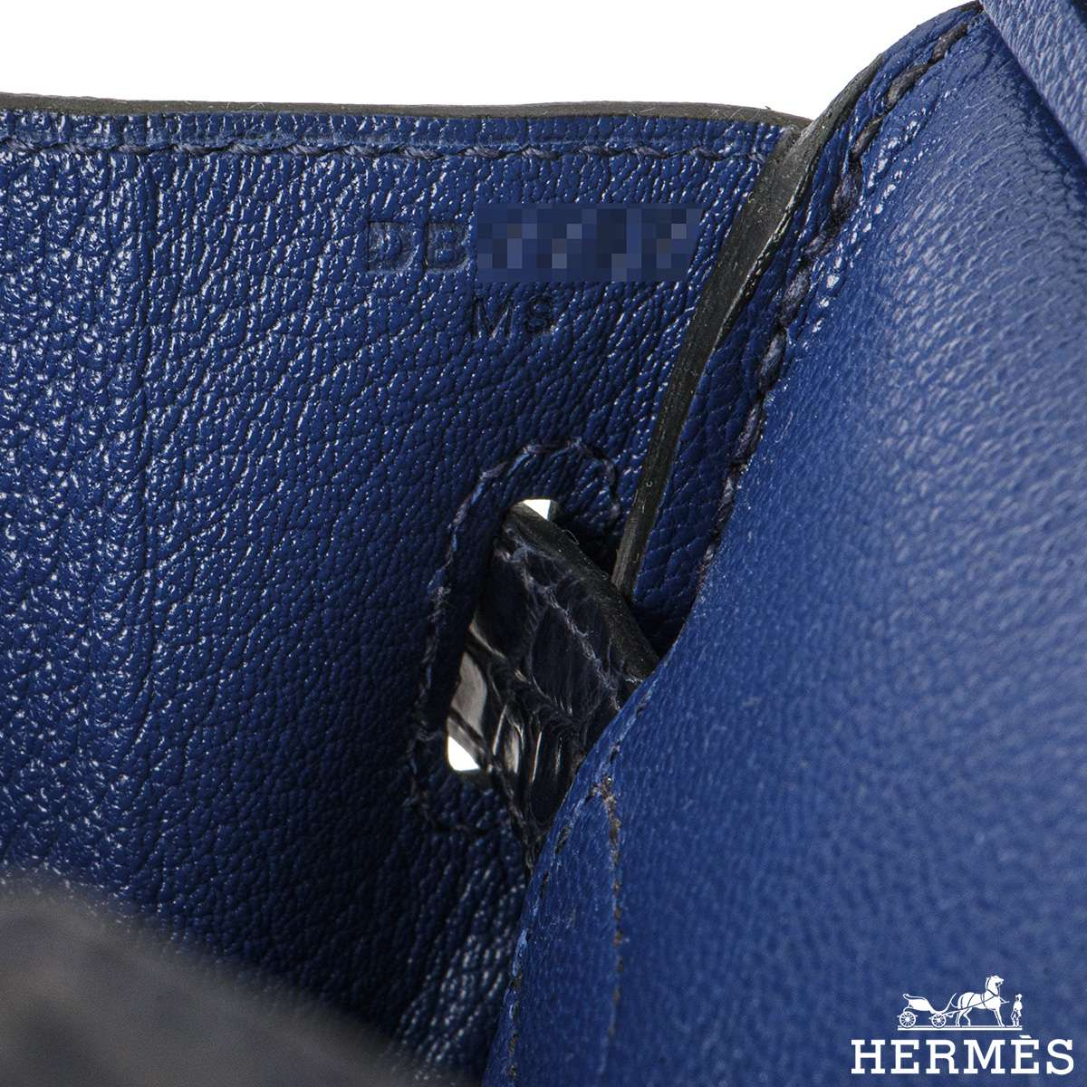 Hermès Birkin 30cm Bleu Saphir/Bleu Marine Touch Alligator/Novillo RGHW
